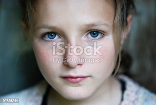 Sad Little Girl Stock Photo & More Pictures of Child