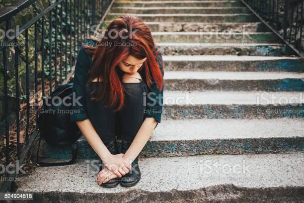 Sad Girl,Red Rose,Lonely,Depressive,Bench - Free Photo -2266