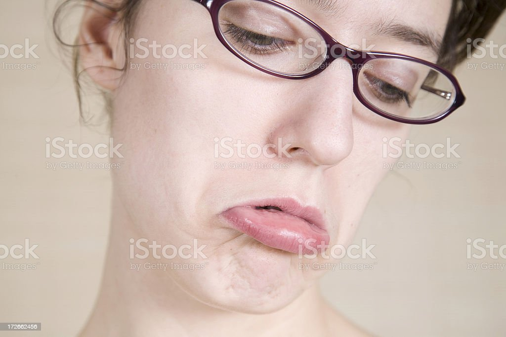 Sad, Lower Lip Sticking Out royalty-free stock photo
