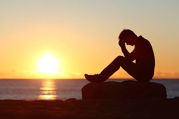 484 Sad Boy Sunset Stock Photos Pictures Royalty Free Images Istock