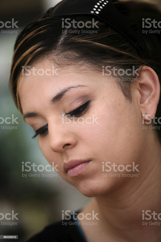 Sad mexican girl - Royalty-free Adult Stock Photo
