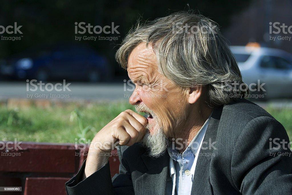Sad old man royalty-free stock photo