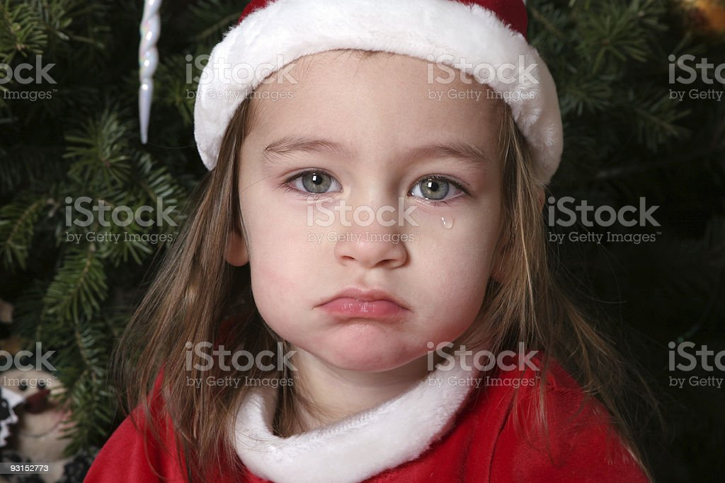 Sad Santa Baby #1 royalty-free stock photo