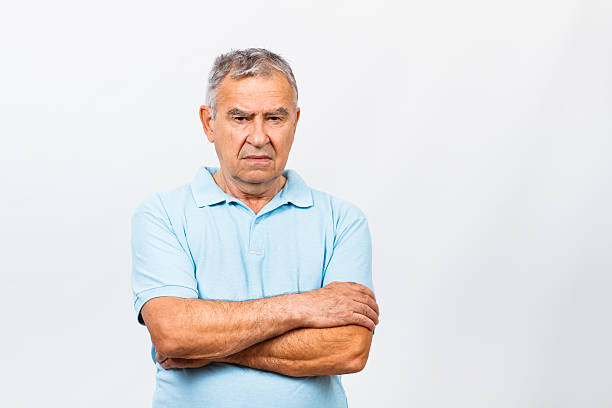 Trauriger alter Mann – Foto