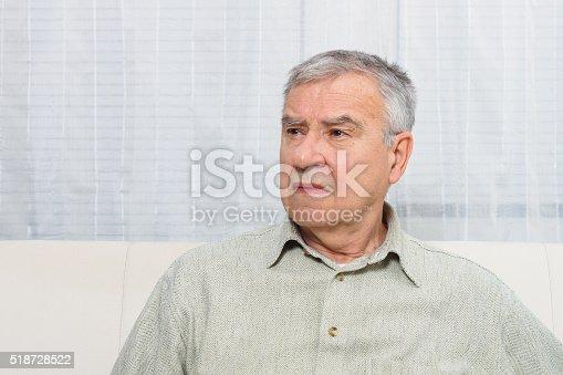 875602488 istock photo Sad senior man 518728522