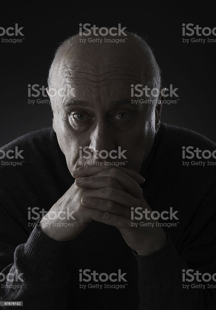 Sad senior man royalty-free stock photo