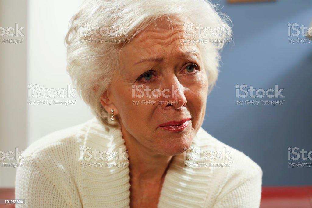 sad senior woman royalty-free stock photo