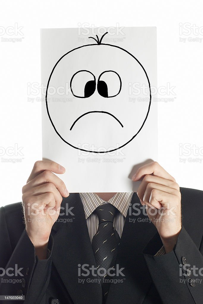 sad smile royalty-free stock photo