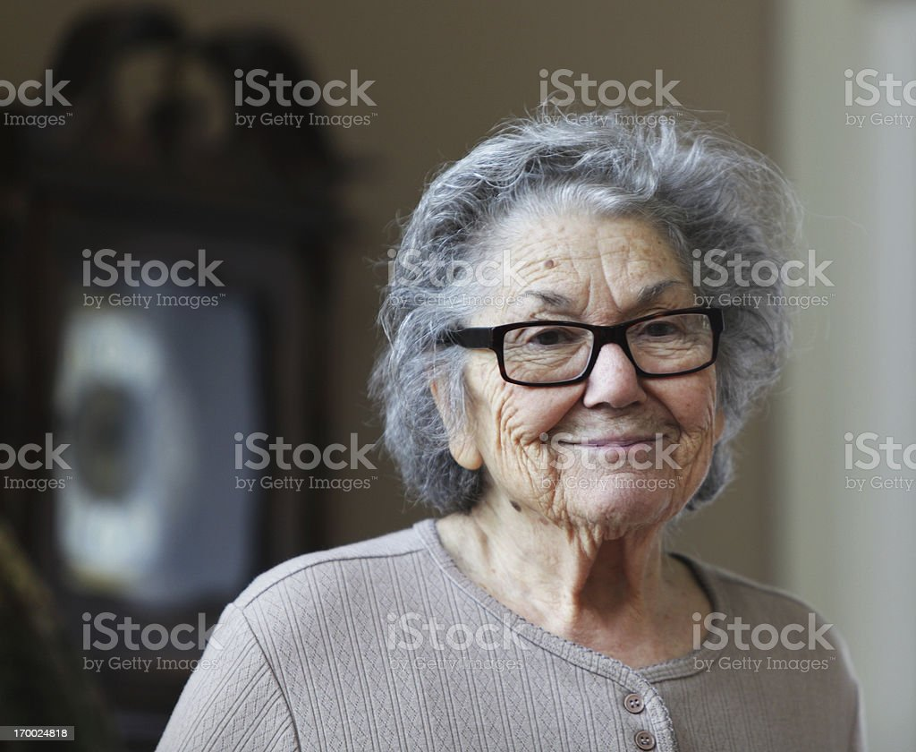 Sad Smile Senior Woman royalty-free stock photo