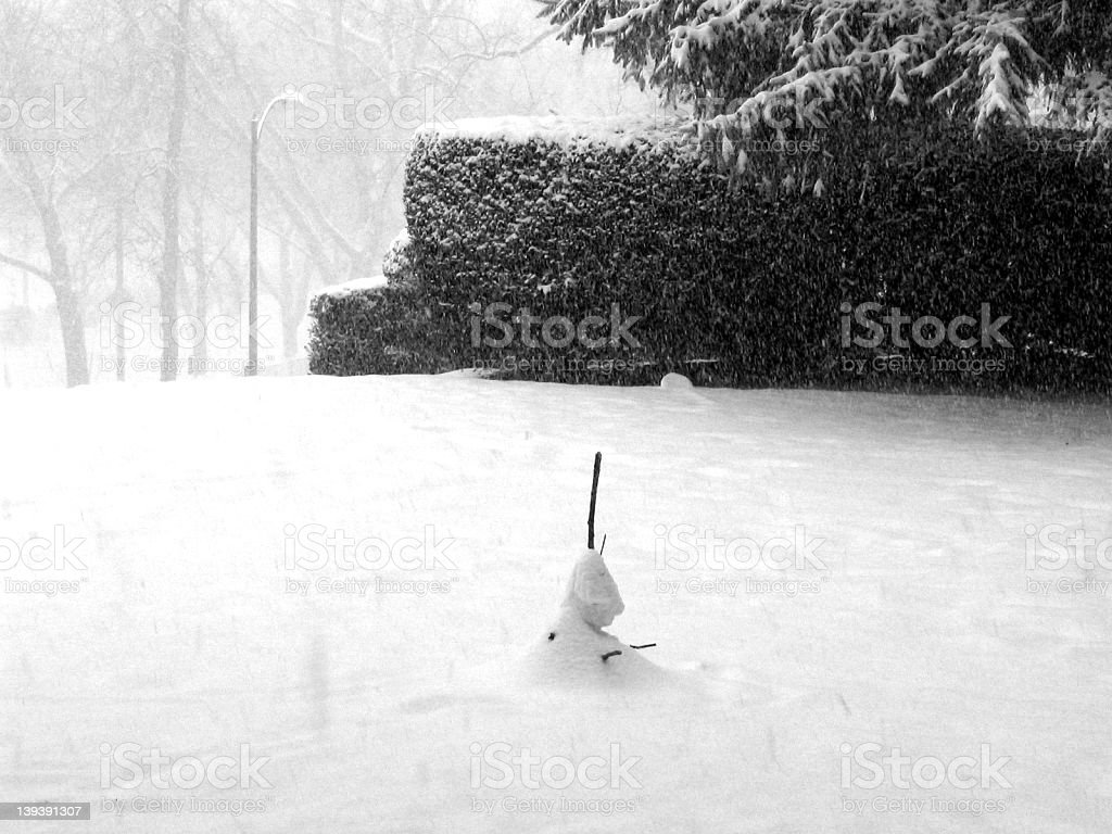 Sad Snowman royalty-free stock photo