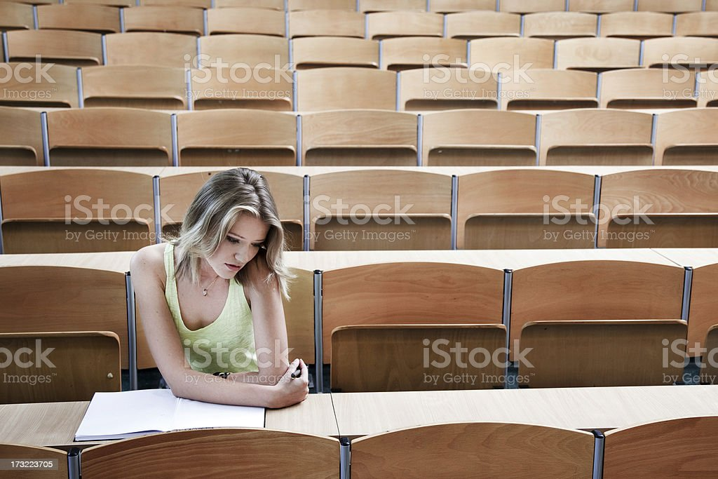 Sad student royalty-free stock photo