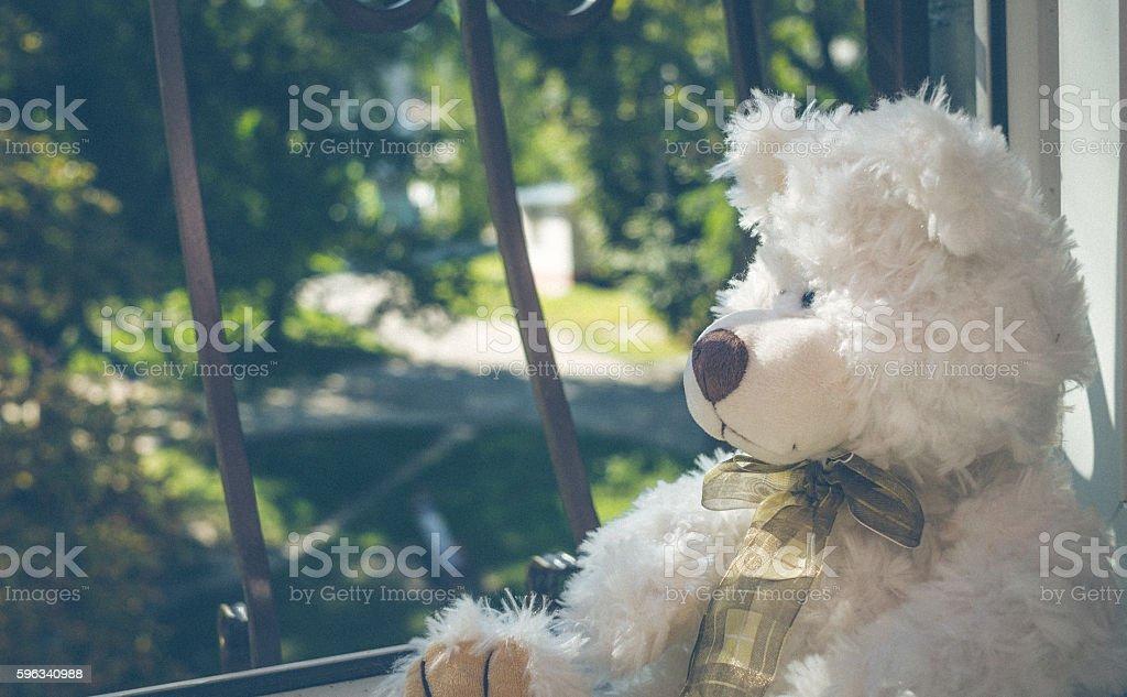 Sad Teddy bear Lizenzfreies stock-foto