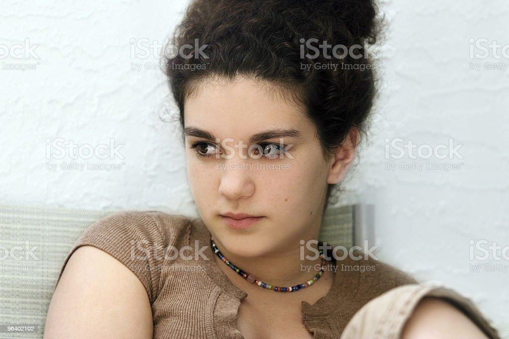 Sad teen girl - Royalty-free Adolescence Stock Photo