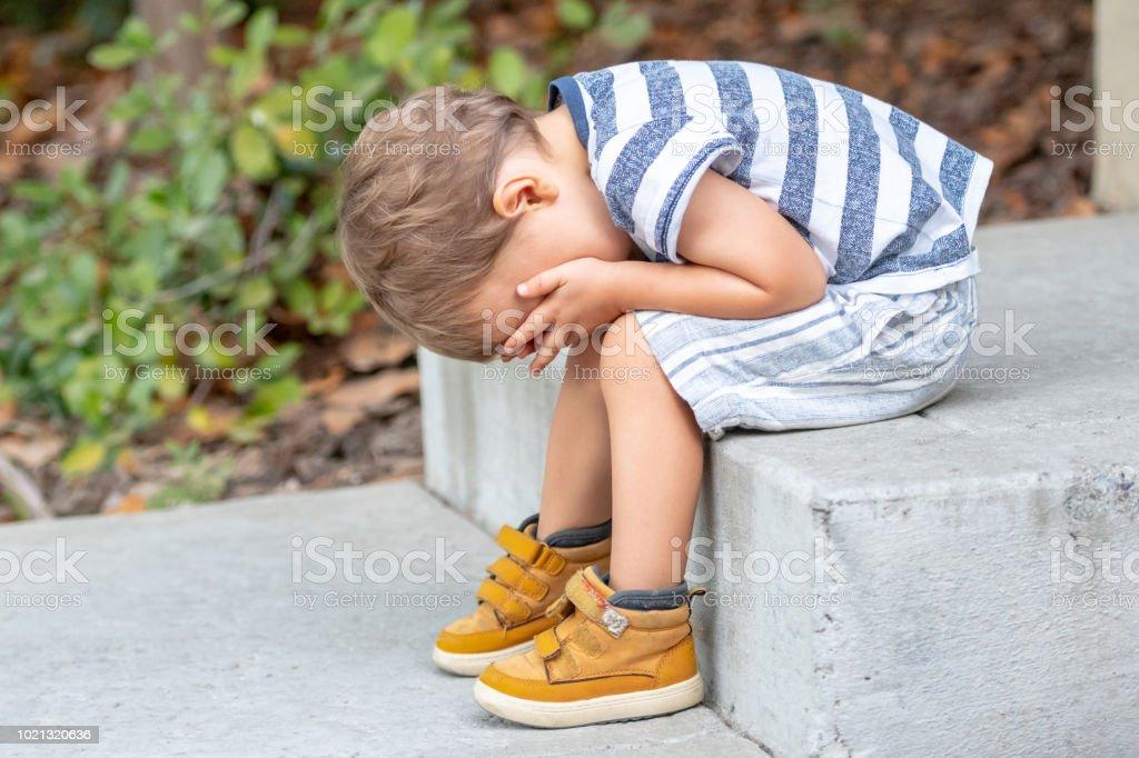 Traurigen Kleinkind – Foto