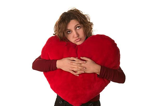 sad Valentine day stock photo