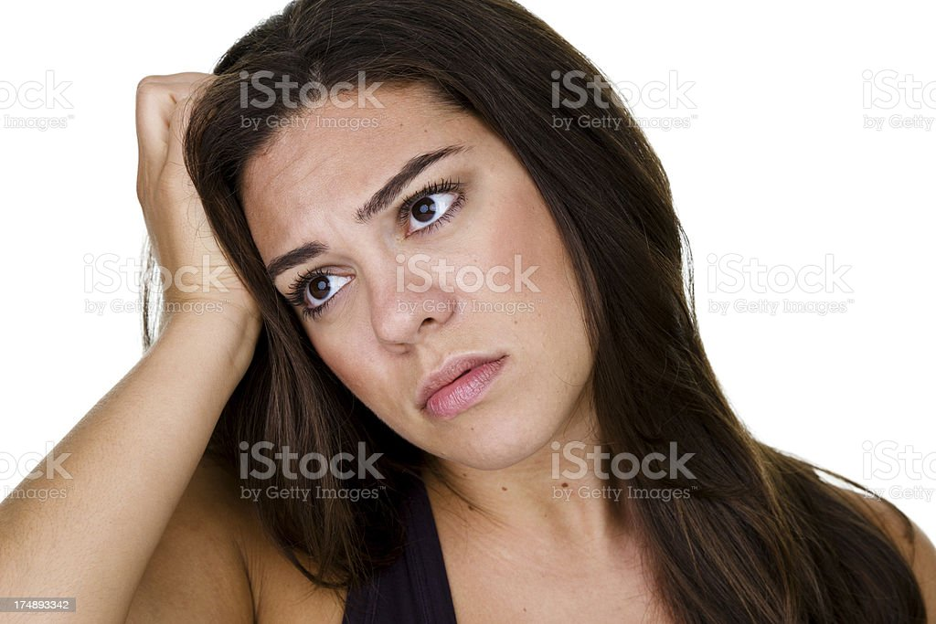Sad woman royalty-free stock photo