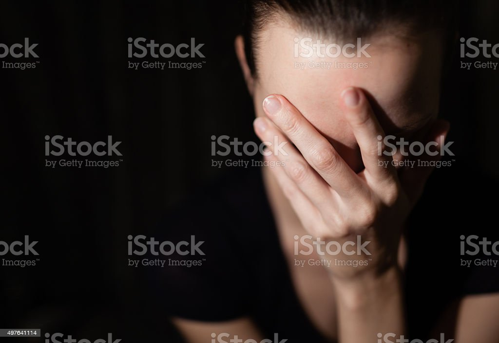Sad woman stock photo