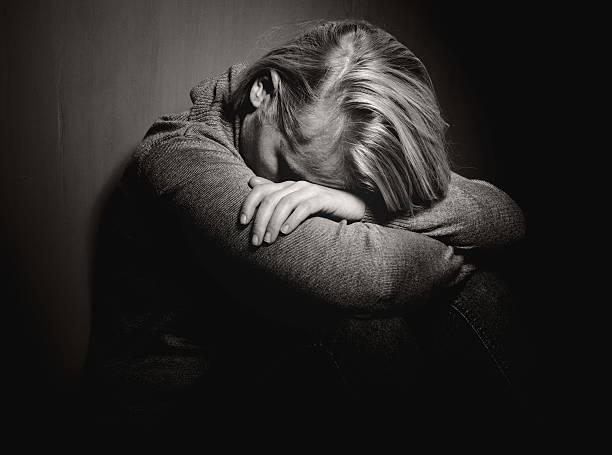 Sad woman. stock photo