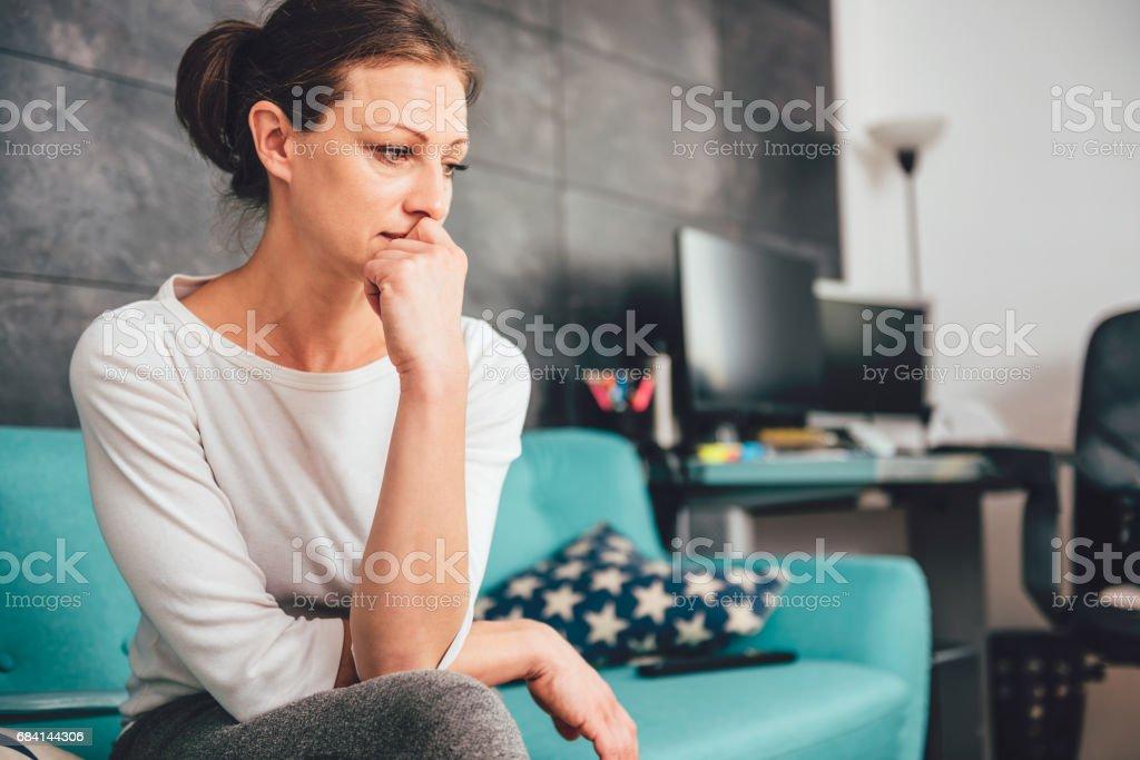 Mulher triste  foto de stock royalty-free