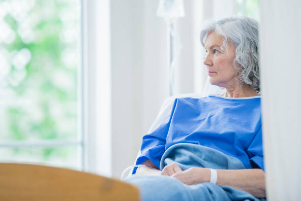 sad woman - psychiatric ward stock photos and pictures