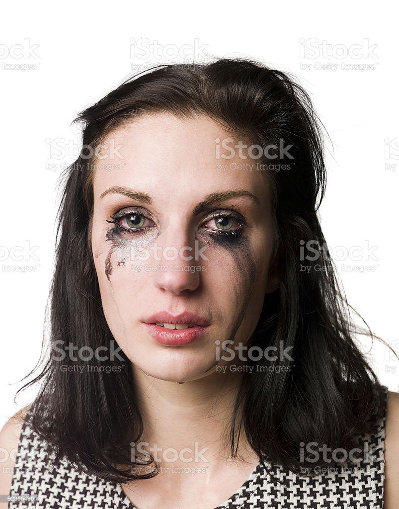 Traurige Frau Lizenzfreies stock-foto