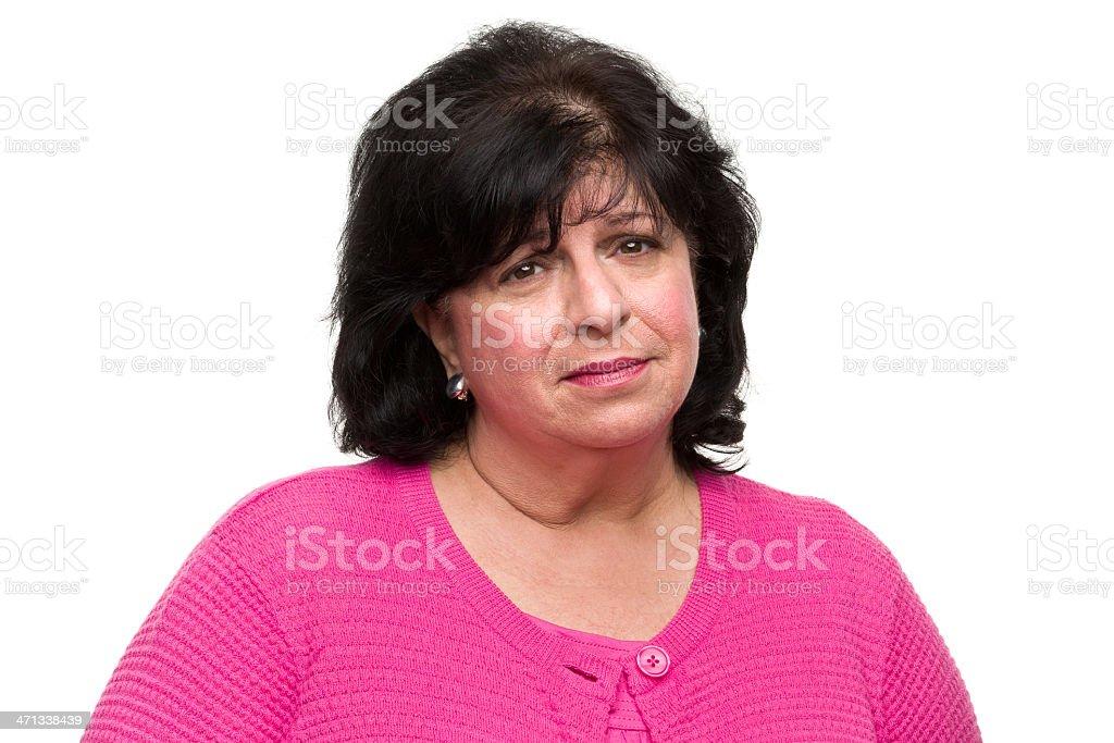 Sad Woman Portrait royalty-free stock photo