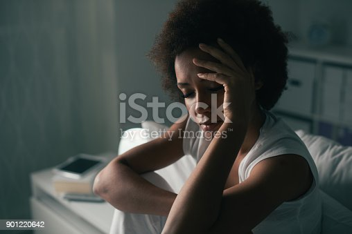 istock Sad woman suffering from insomnia 901220642