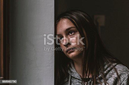 istock Sad Young Girl 888960790