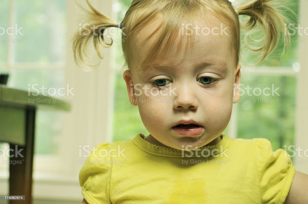 Sad Young Girl with Tears in her Eyes royalty-free stock photo