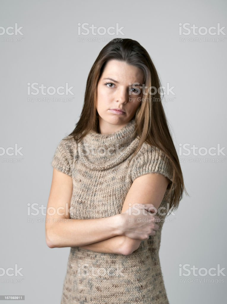 Sad Young Woman royalty-free stock photo