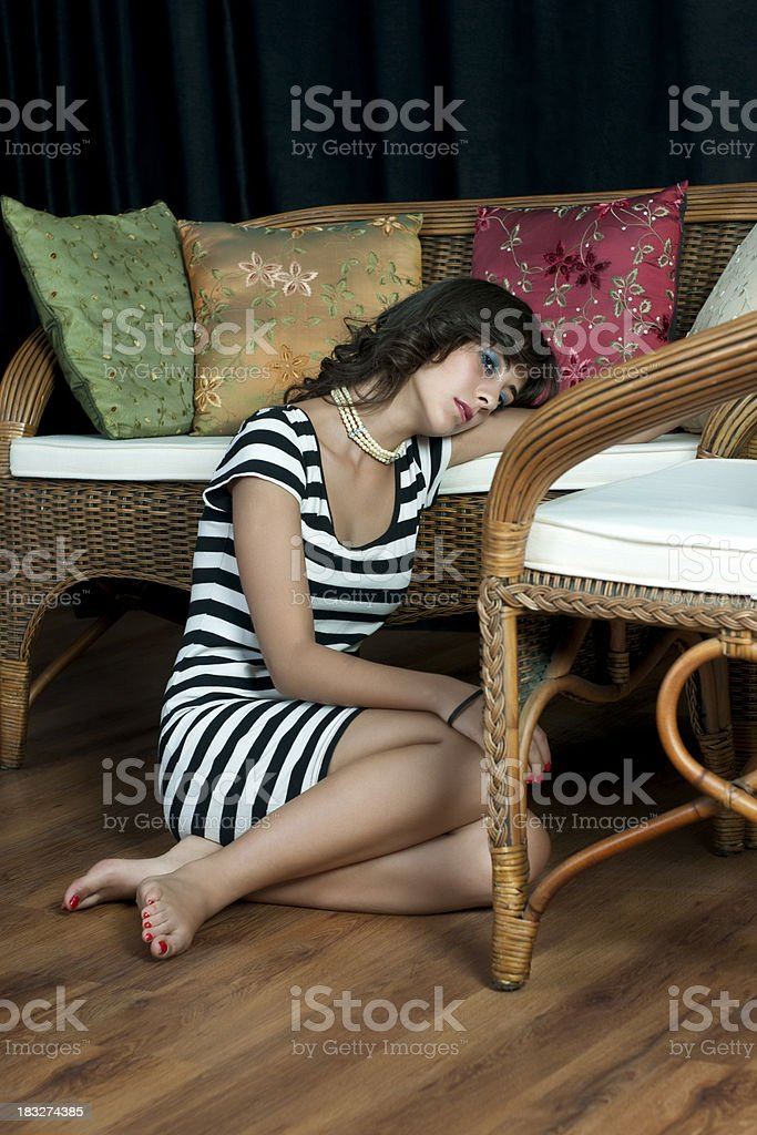 sad young woman royalty-free stock photo