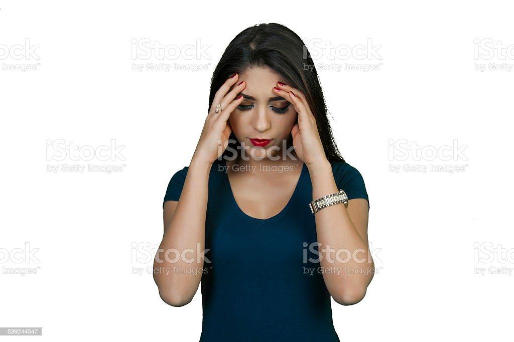 Triste joven mujer foto de stock libre de derechos