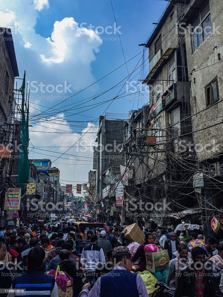 Sadar Bazaar in New Delhi stock photo