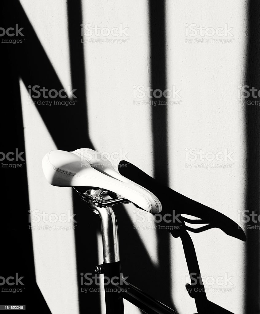 Saddle and bicycle abstract royalty-free stock photo