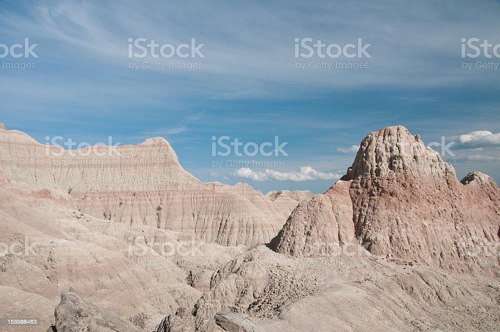Saddle Pass, Badlands National Park stock photo