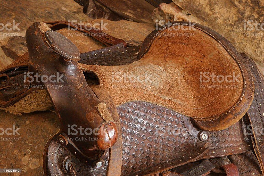 Saddle Riding Tack Leather stock photo