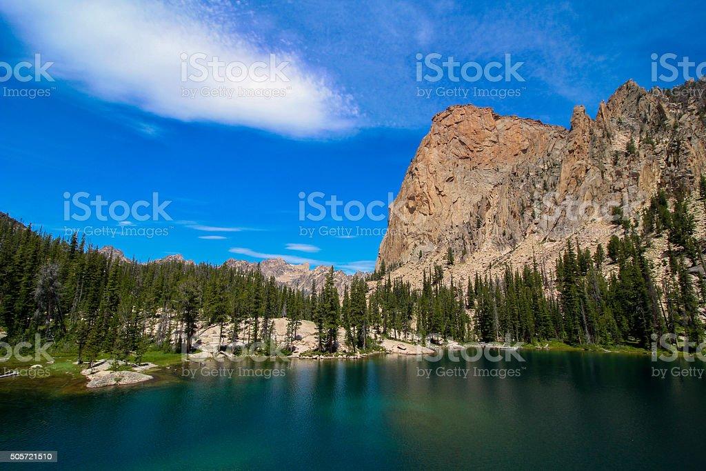 Saddleback Lake stock photo
