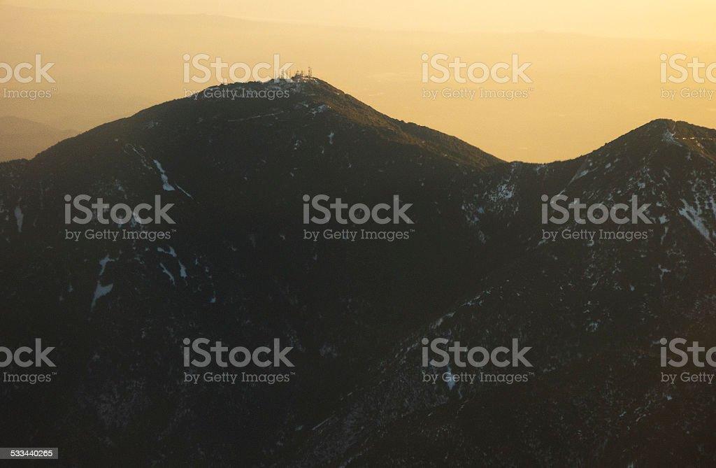 Saddleback Mountain stock photo