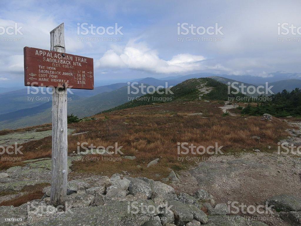 Saddleback Mountain Summit stock photo