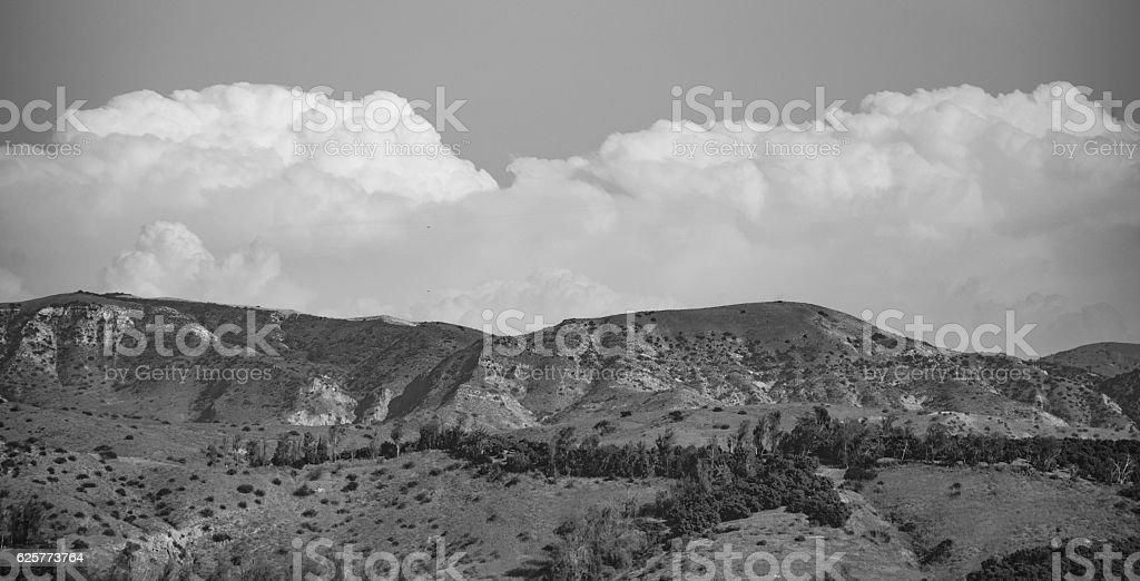 Saddleback mountains stock photo