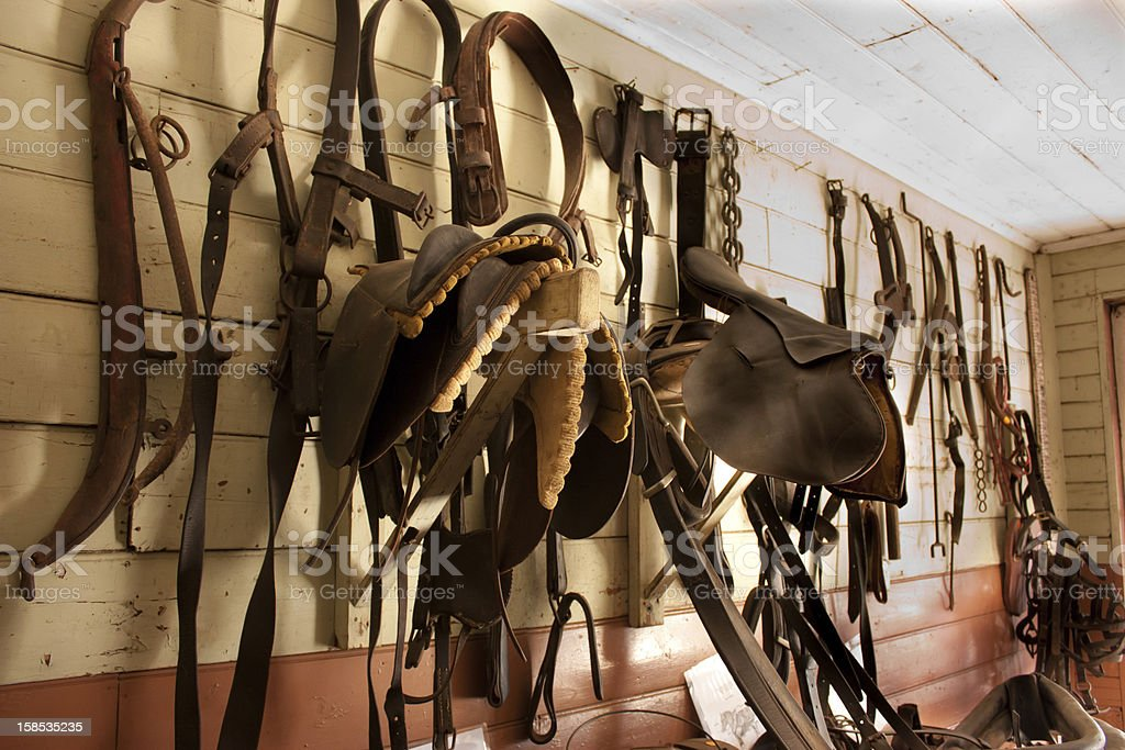 Saddlery Wall Stocked With Horse Gear Stock Photo Download Image Now Istock