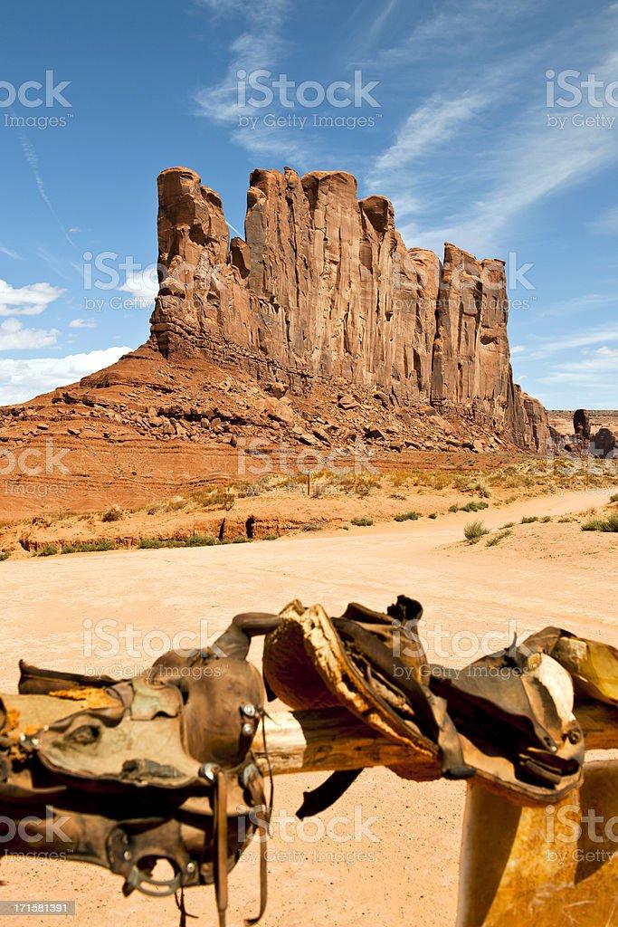 Saddles in Monument Valley Arizona USA royalty-free stock photo
