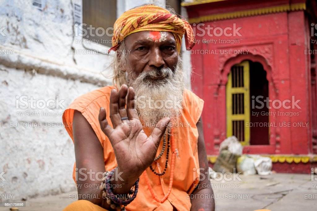 Sadhu Baba royalty-free stock photo