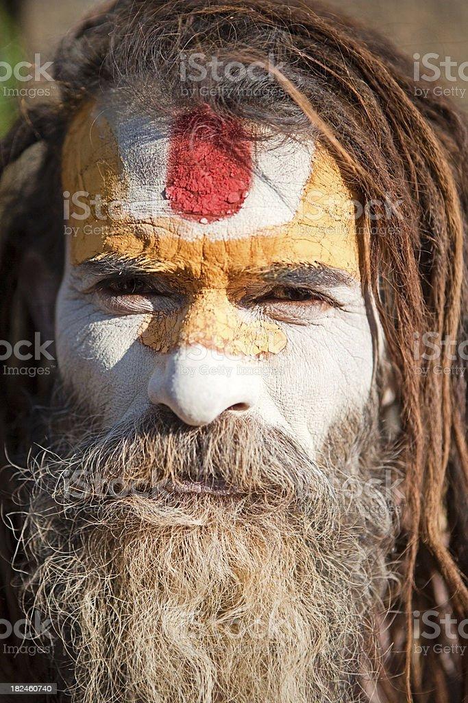Hombre Santo Sadhu - foto de stock libre de derechos
