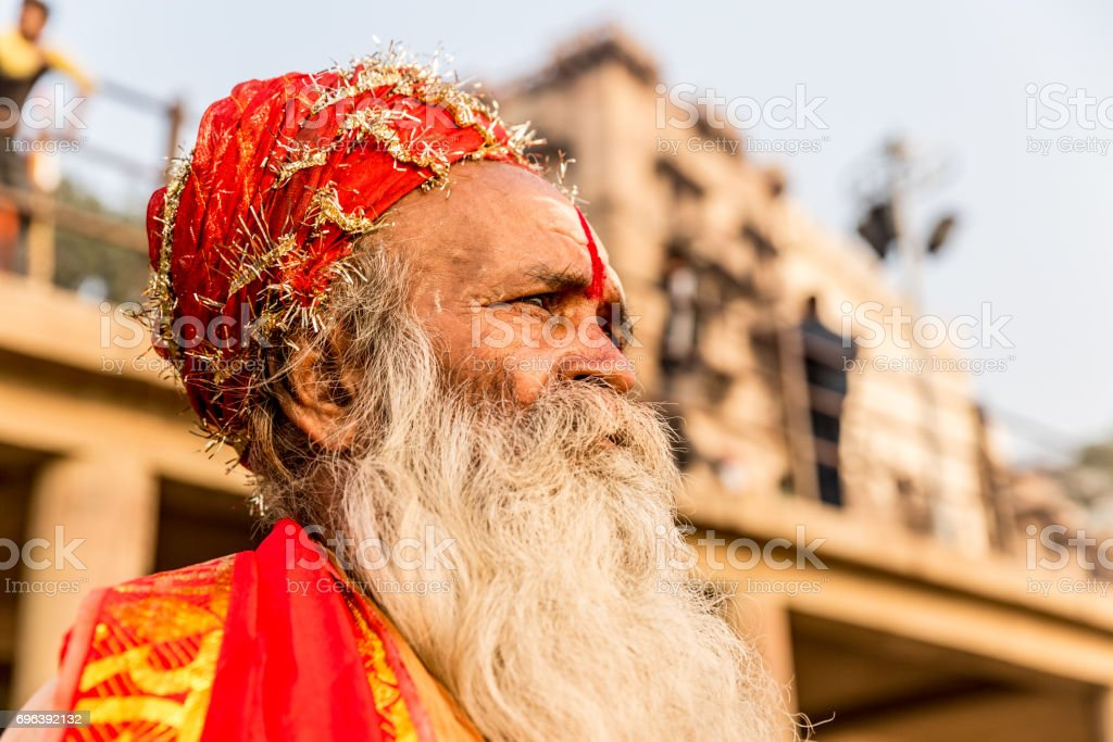 Arresting Sadhus Portrait Photography Religious Photography: Sadhu In Varanasi India Stock Photo