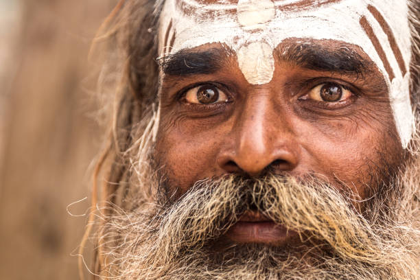 Arresting Sadhus Portrait Photography Religious Photography: Sadhus Priests Stock Photos, Pictures & Royalty-Free