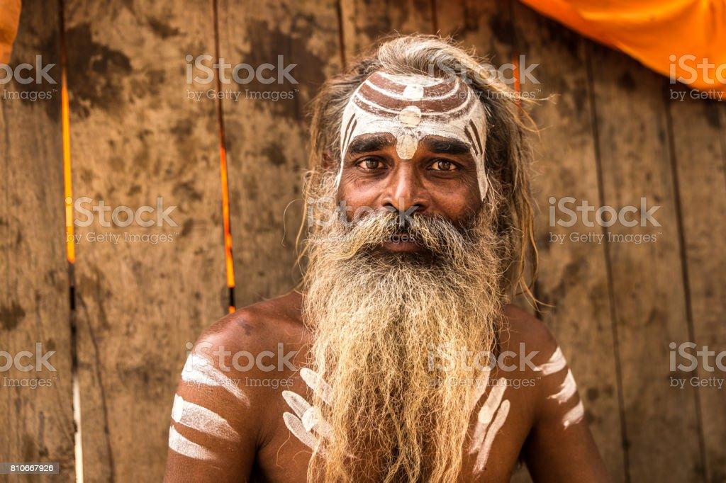 Sadhu in Varanasi, India stock photo