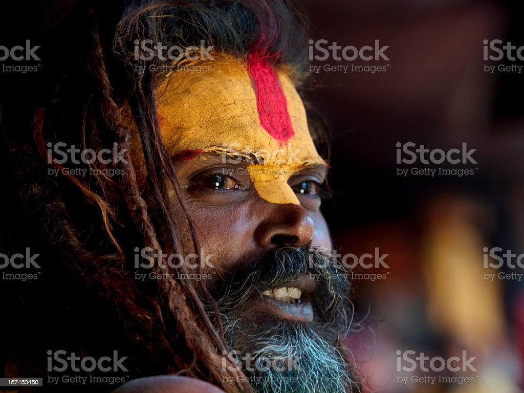 Sadhu portrait stock photo