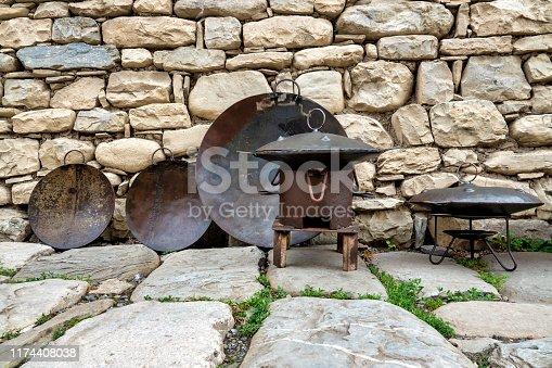 Azeri sadj on display in Lahij, Azerbaijan
