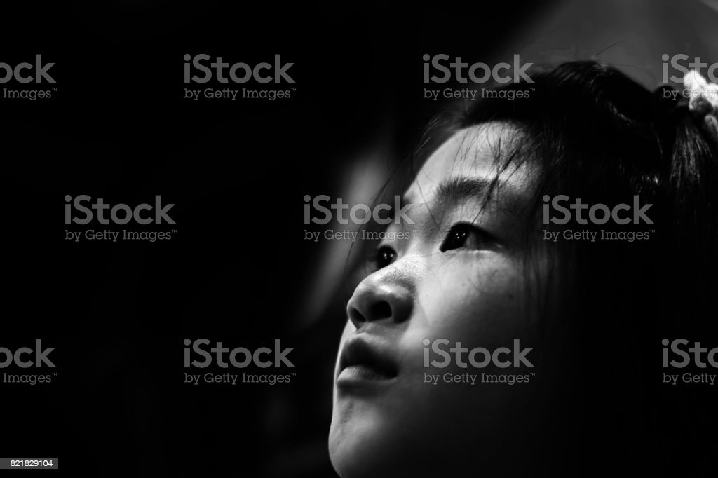 sadness and depress girl, absent minded, stock photo